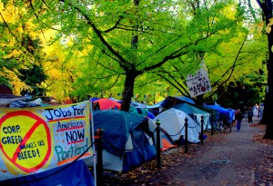 Just outside Occupy Portland prior to the Keystone XL Pipeline protest. Nov. 6. Photo by James Strother.